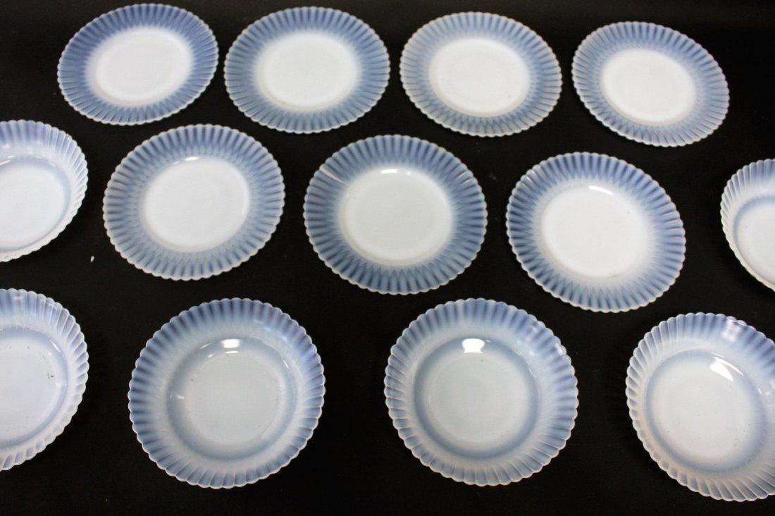 Thirteen [13] Opalescent Glass Plates, Bowls - 3