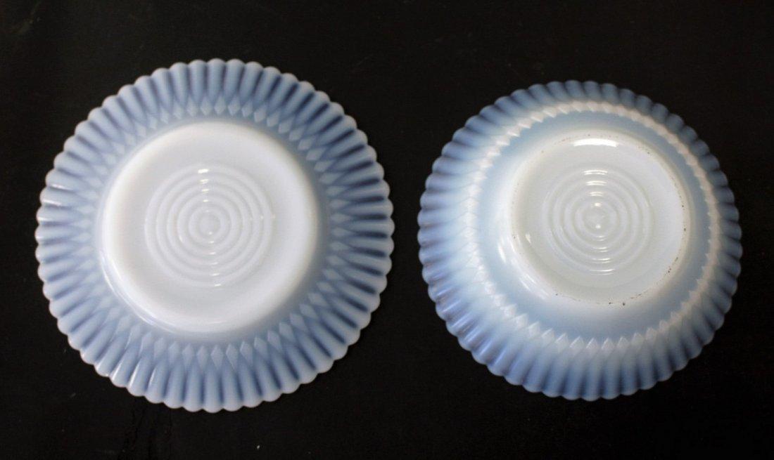 Thirteen [13] Opalescent Glass Plates, Bowls - 4