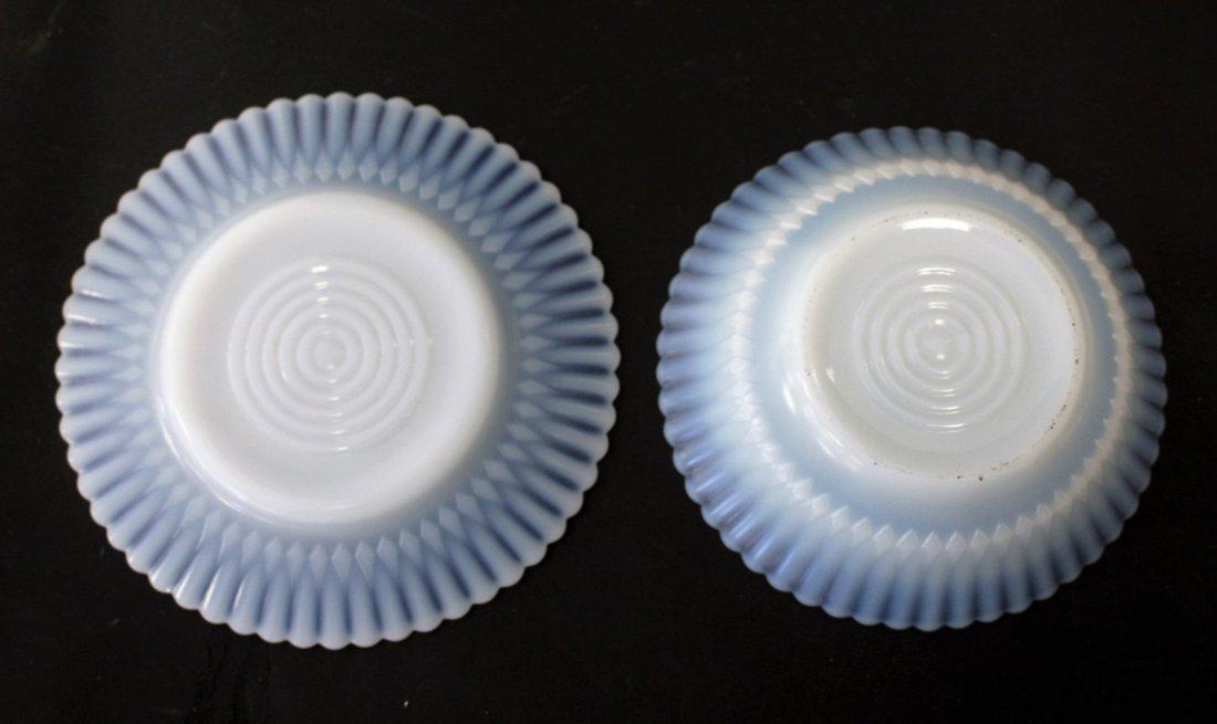 Thirteen [13] Opalescent Glass Plates, Bowls - 4