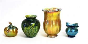 Four(4) Miscellaneous Art Glass Items