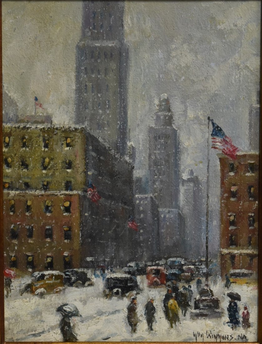 Guy Wiggins(attributed to); American Oil Painting