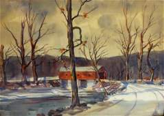 Paul Remmey; 20thC. American Watercolor Signed
