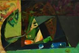 Hananiah Harari; 20thC. American Modernist Oil Painting