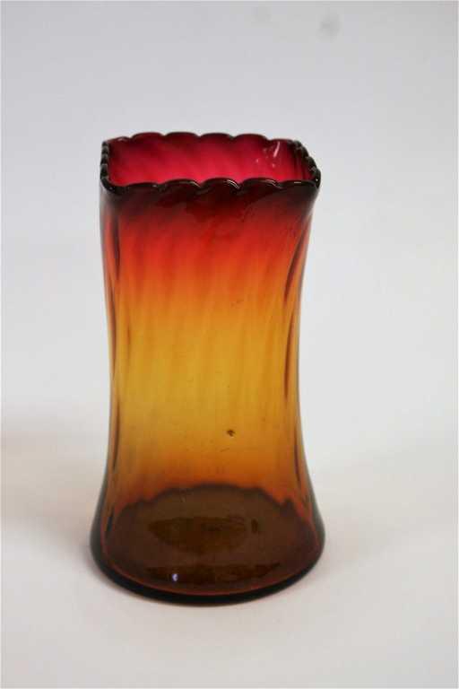 Mt Washington Amberina Glass Celery Vase