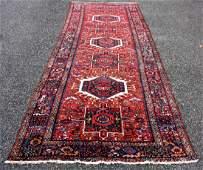 Semi Antique Heriz Carpet 13.6 x 4.9