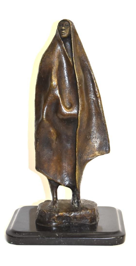 Francisco Zuniga; 20thC. Latin American Bronze Signed
