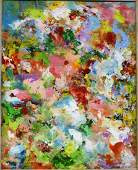 Alice White; 20thC. Modernist Oil Painting Signed