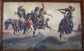 Charles Schreyvogel(after); Framed Western Print