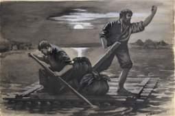 American Story Illustration; Gouache on Board