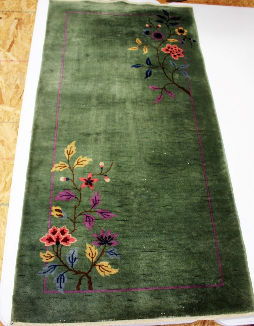 Chinese Art Deco Scatter Rug 2 x 4
