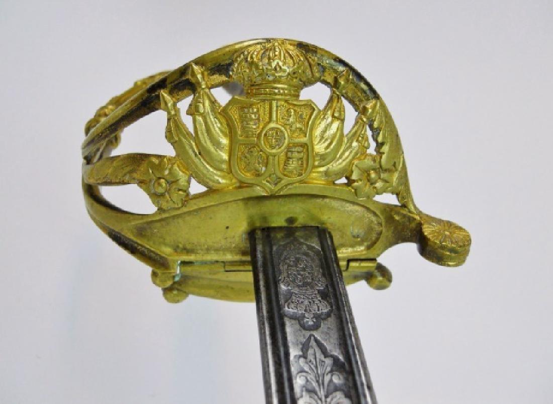Spanish M1868 Infantry Officer Sword, 1869 Date