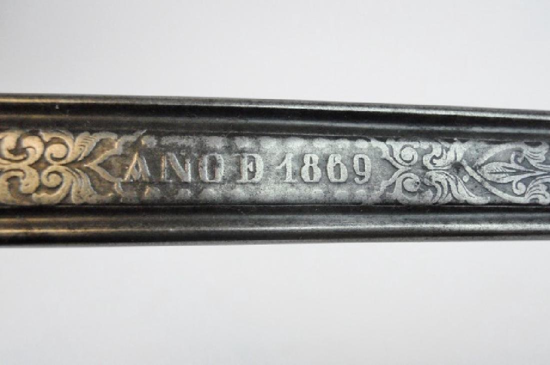 Spanish M1868 Infantry Officer Sword, 1869 Date - 5