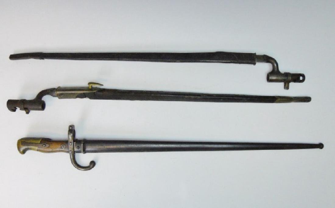 19th C. British and French Bayonets, (3pc)