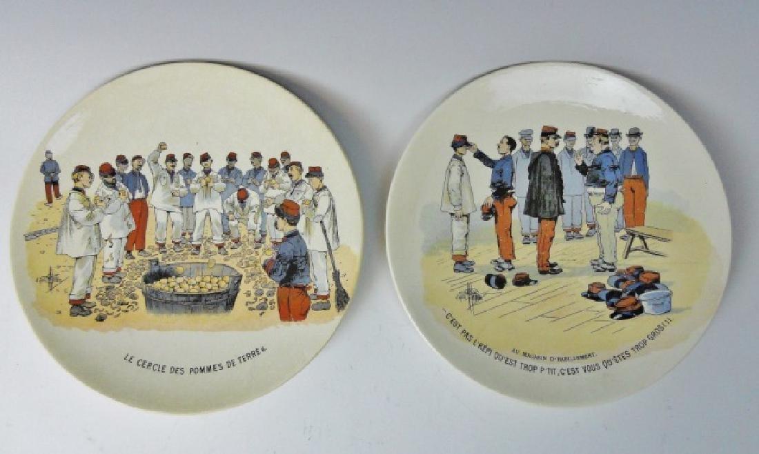 WW1 French Military Porcelain Plates, (2pc)