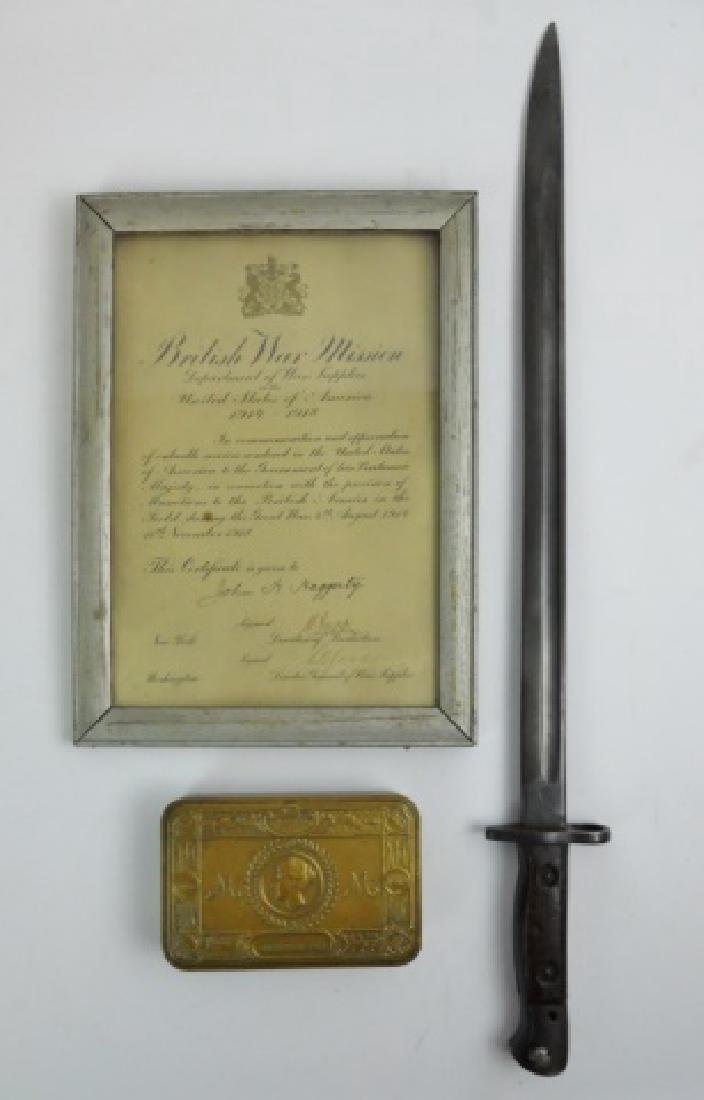 Collection of British WW1 Items, (3pc)