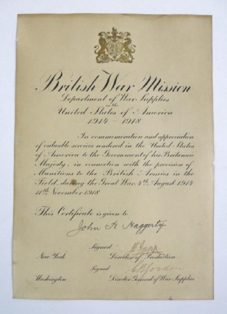 Collection of British WW1 Items, (3pc) - 3