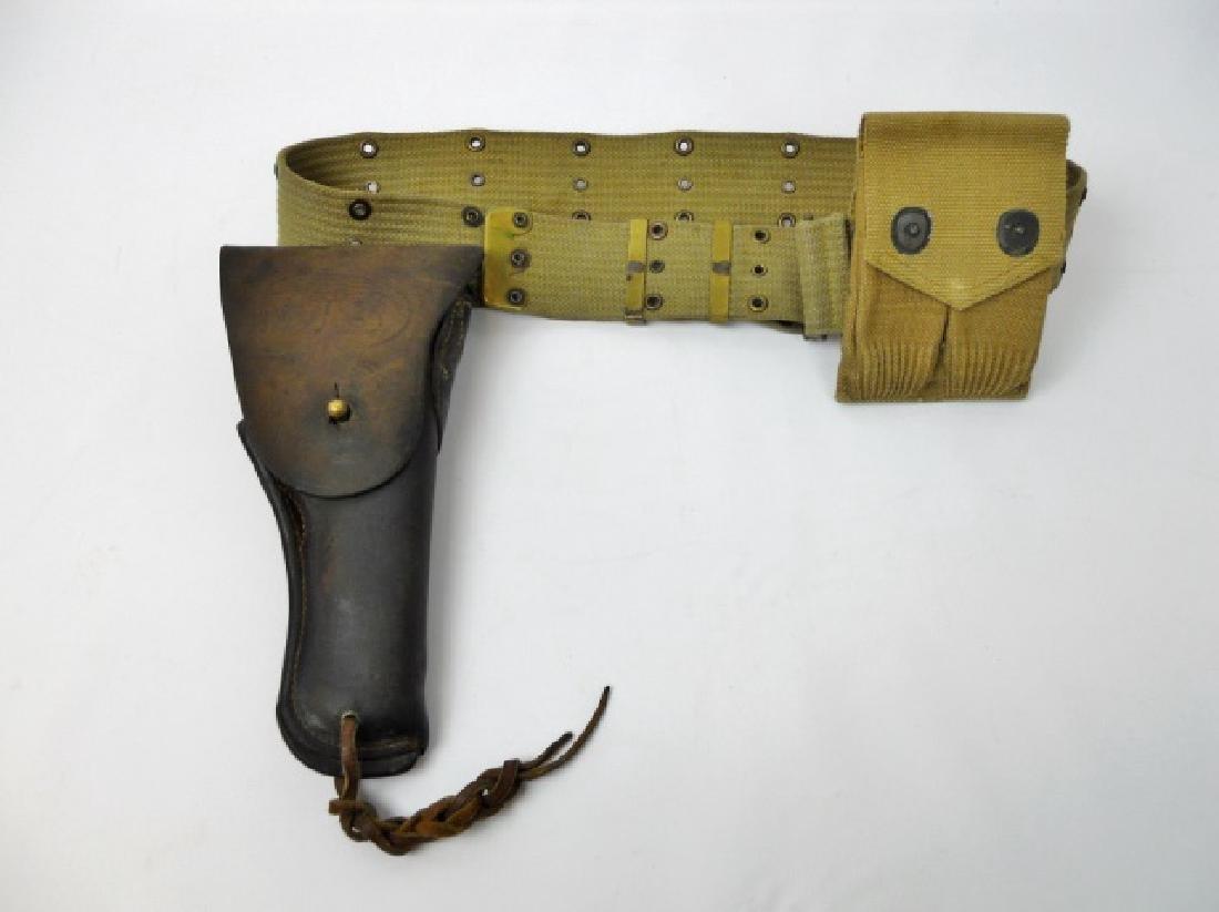 WW1 US Pistol Belt, Holster, Cartridge Pouch (3pc)