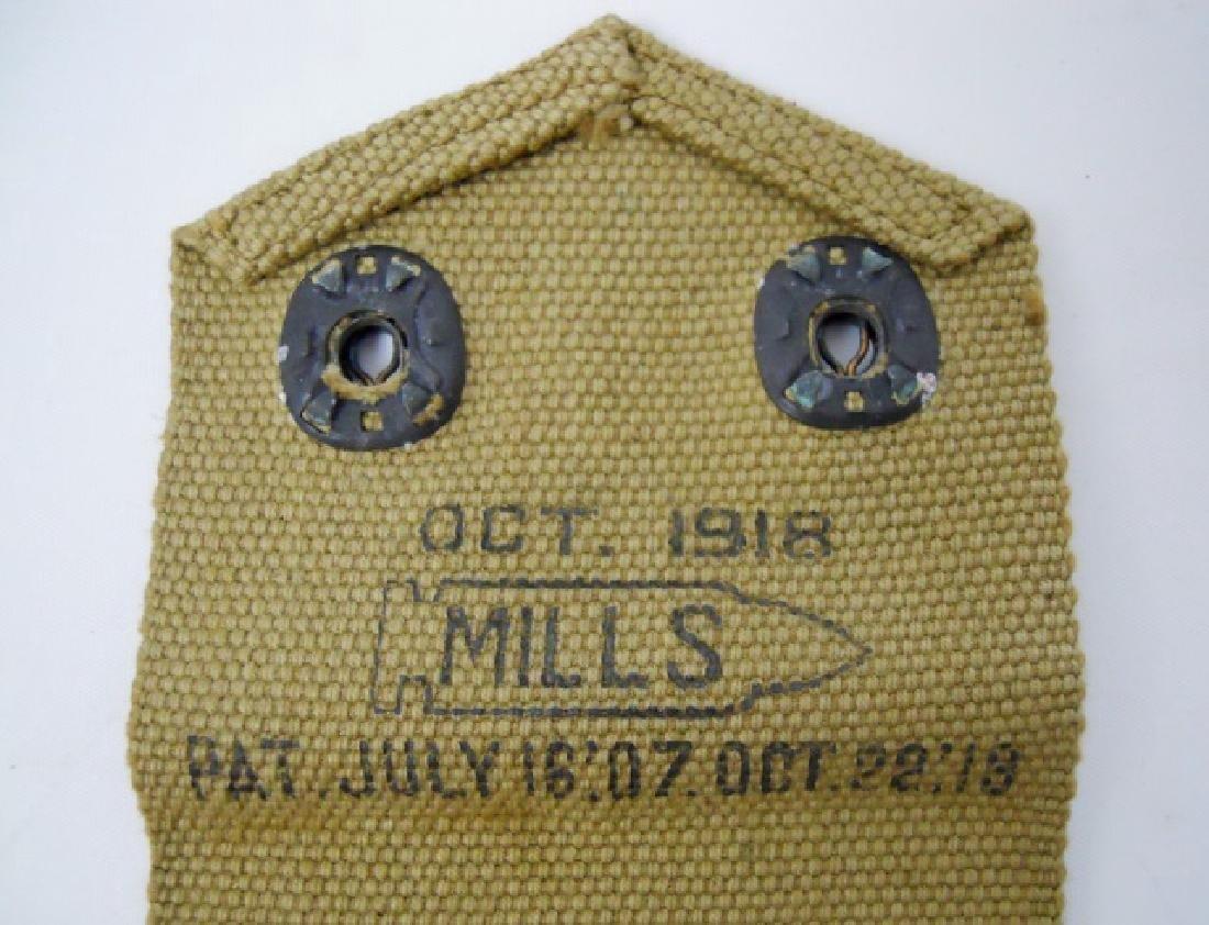 WW1 US Pistol Belt, Holster, Cartridge Pouch (3pc) - 4