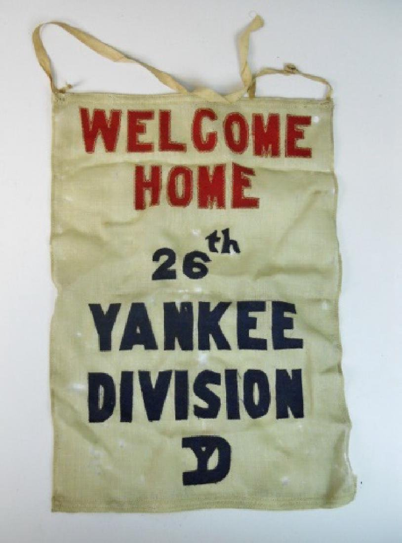 WW1 Banner, Welcome Home 26th Division