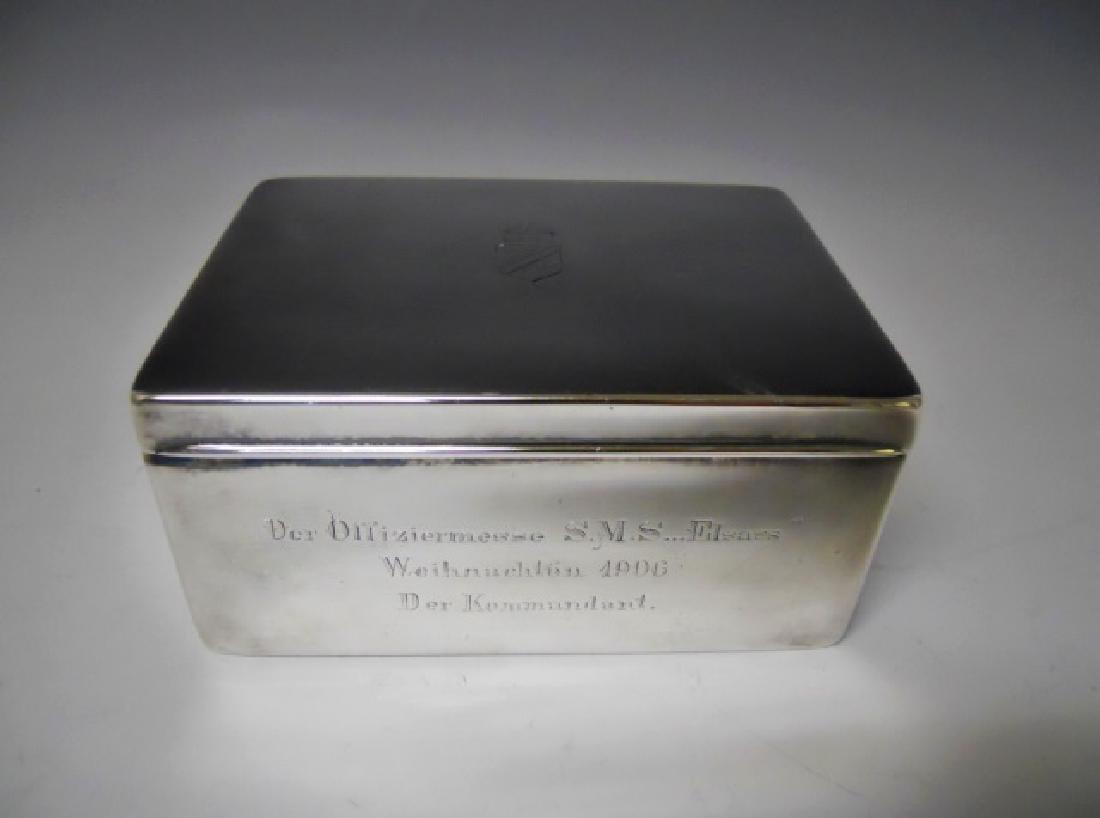 WW1 Era German Imperial Desk Top Cigar Box, 1906