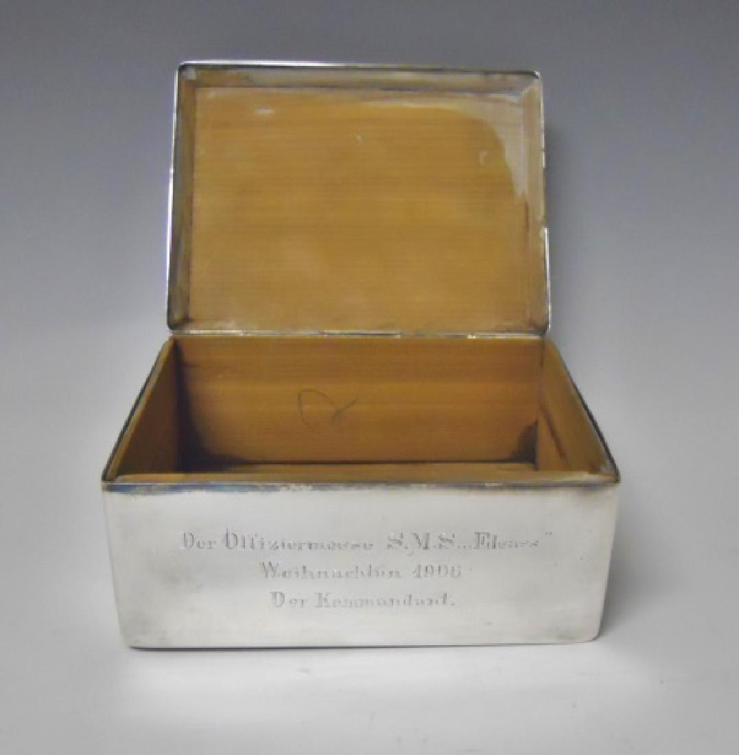 WW1 Era German Imperial Desk Top Cigar Box, 1906 - 2