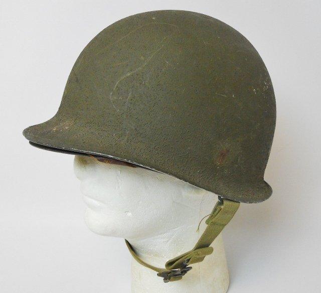 WW2 US M1 Army Helmet, Front Seam