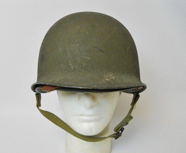 WW2 US M1 Army Helmet, Front Seam - 2