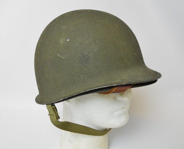 WW2 US M1 Army Helmet, Front Seam - 3