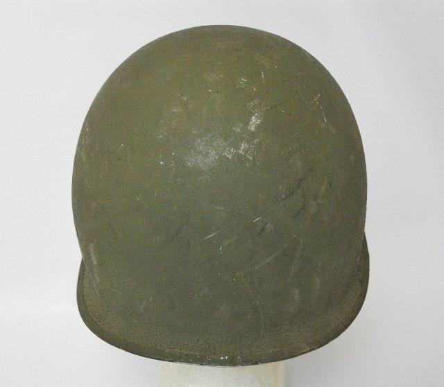 WW2 US M1 Army Helmet, Front Seam - 4