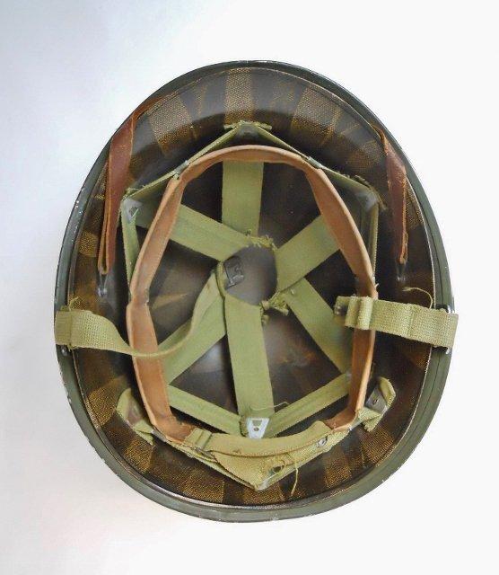 WW2 US M1 Army Helmet, Front Seam - 5