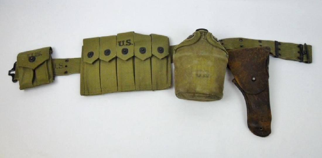 WW2 U.S. Web Belt Rig, (5pc)