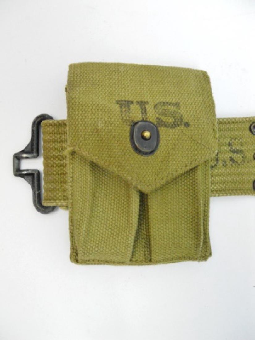 WW2 U.S. Web Belt Rig, (5pc) - 2