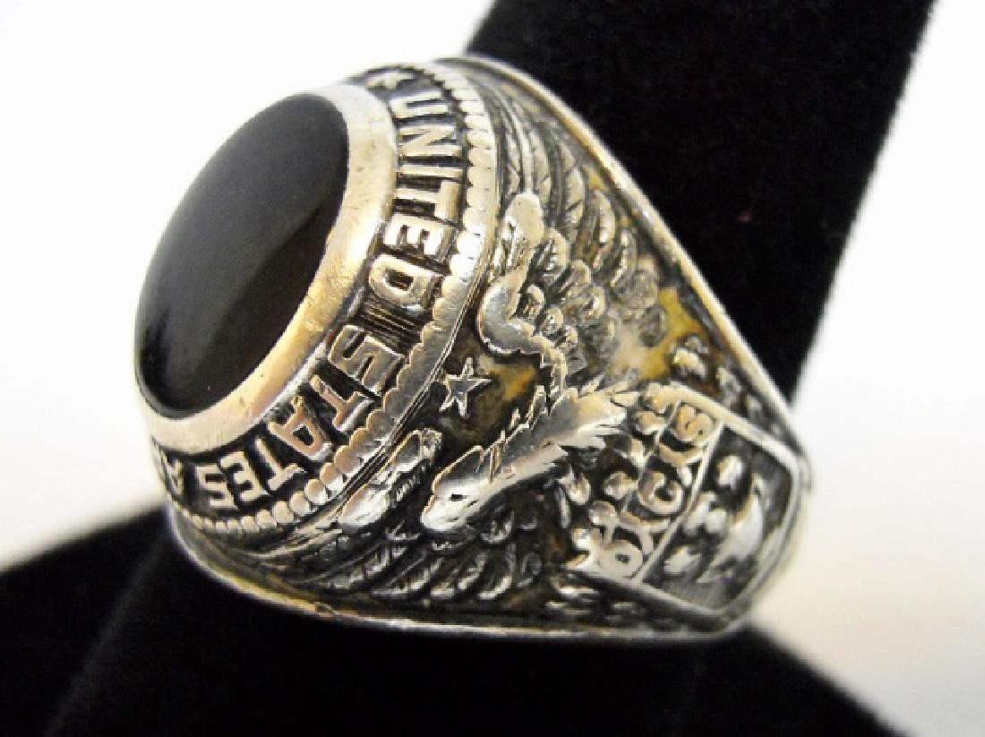 Collection of WW2 US Silver Military Rings, (3pc) - 3