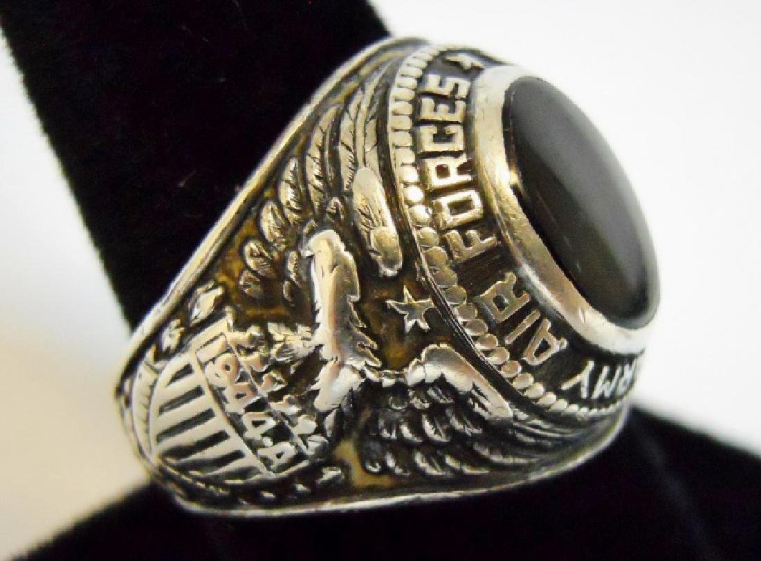 Collection of WW2 US Silver Military Rings, (3pc) - 4