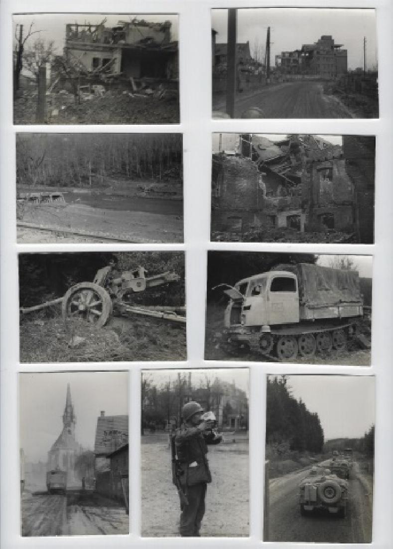 Collection of WW2 US GI photos, Europe, (13pc)