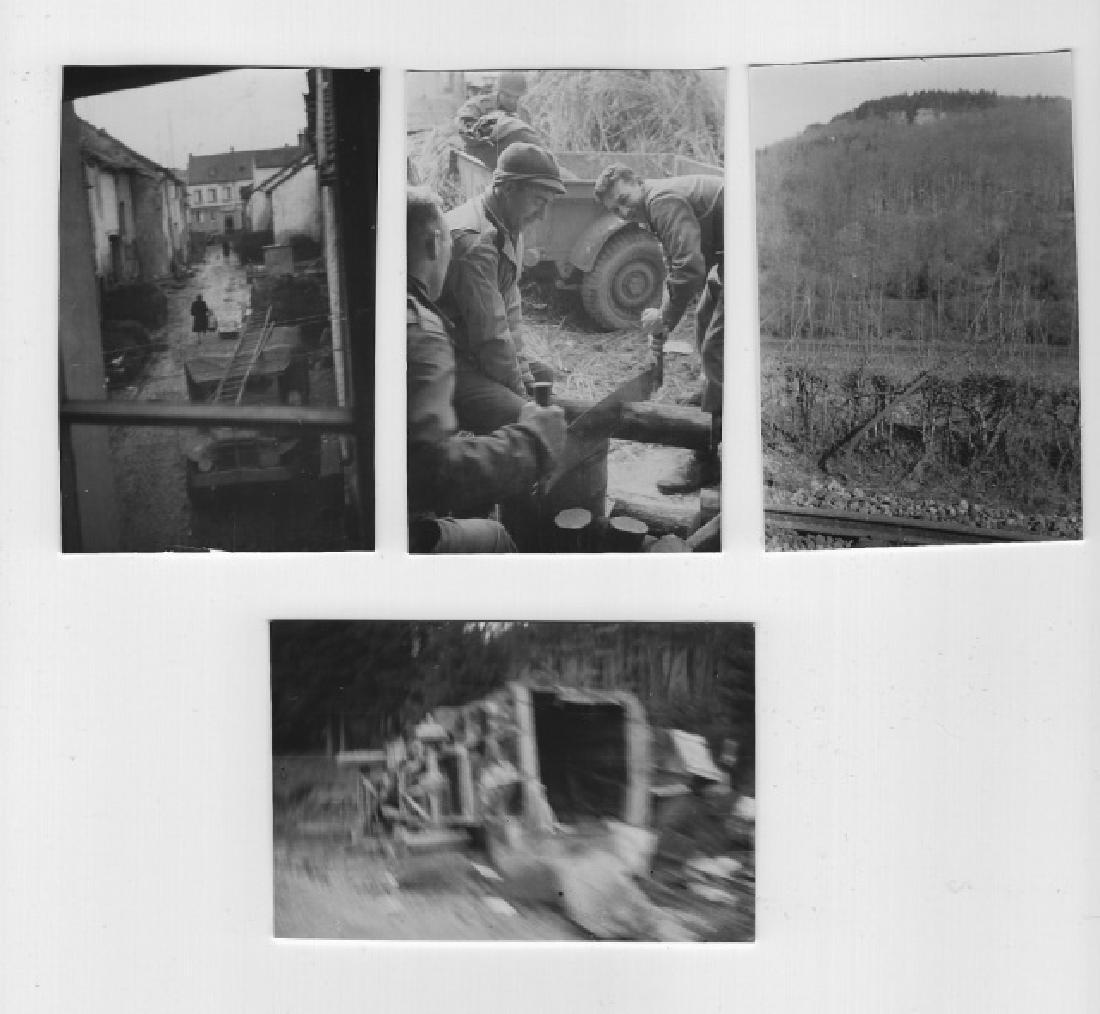 Collection of WW2 US GI photos, Europe, (13pc) - 2