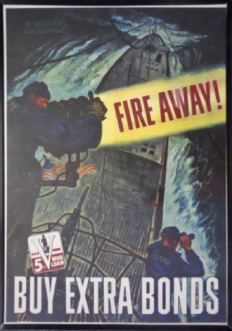 WW1 and WW2 Recruiting, Bond Drive Posters, (2pc)