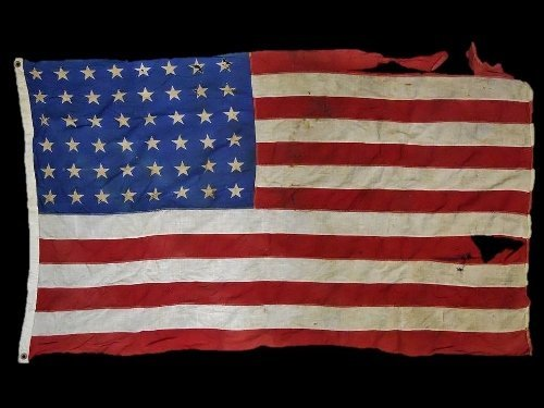 WW2 USMC Battle Flag with Guam Provenance