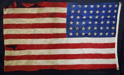 WW2 USMC Battle Flag with Guam Provenance - 2