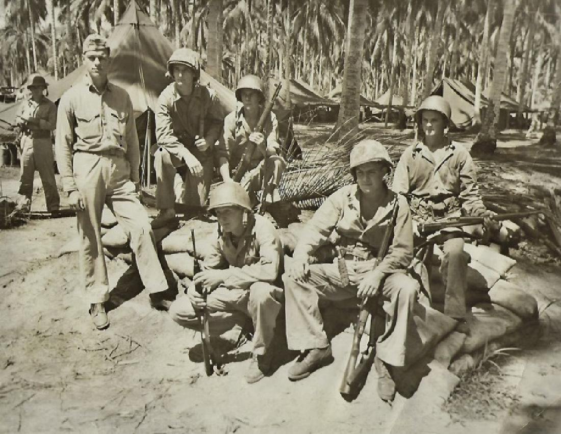 WW2 USMC Battle Flag with Guam Provenance - 4