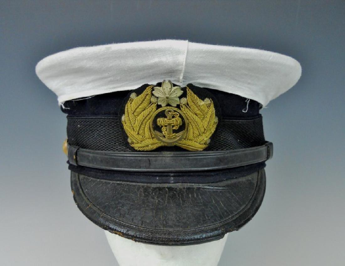 WW2 Japanese M1905 Imperial Navy Officer Visor Cap - 2