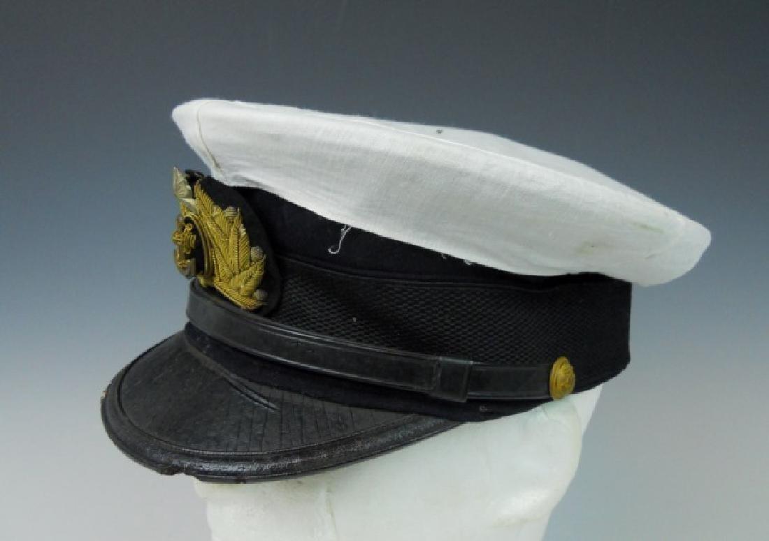 WW2 Japanese M1905 Imperial Navy Officer Visor Cap - 3