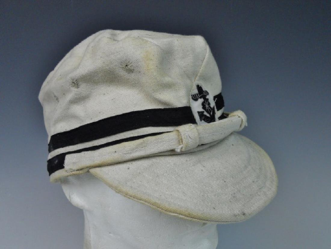 WW2 Japanese Imperial Navy NCO Summer Cotton Cap - 2