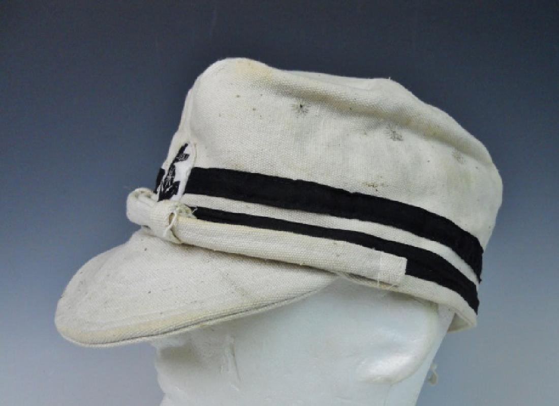 WW2 Japanese Imperial Navy NCO Summer Cotton Cap - 3