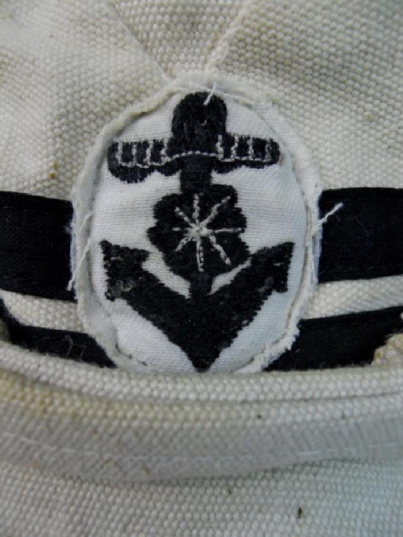 WW2 Japanese Imperial Navy NCO Summer Cotton Cap - 4