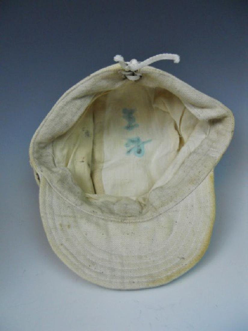 WW2 Japanese Imperial Navy NCO Summer Cotton Cap - 5