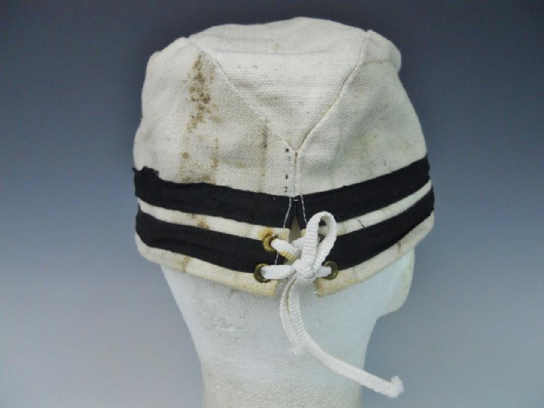 WW2 Japanese Imperial Navy NCO Summer Cotton Cap - 6
