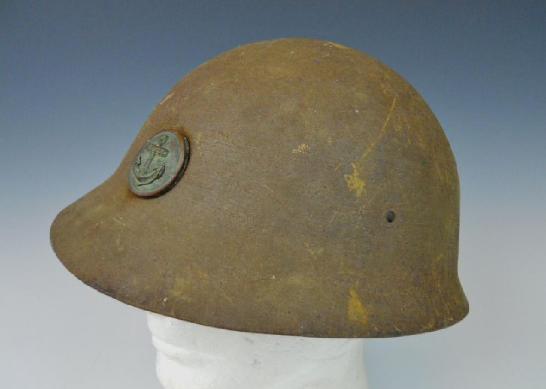WW2 Japanese Type 90 Navy Landing Forces Helmet - 2