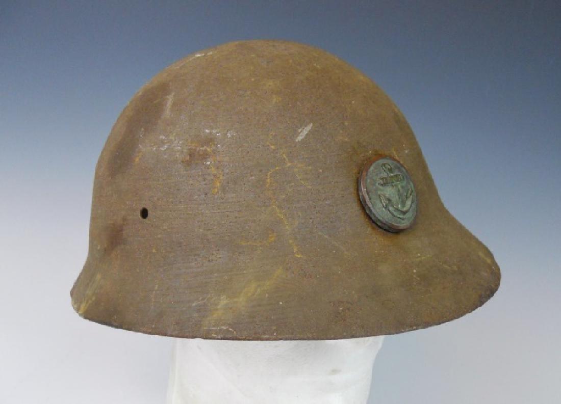 WW2 Japanese Type 90 Navy Landing Forces Helmet - 3
