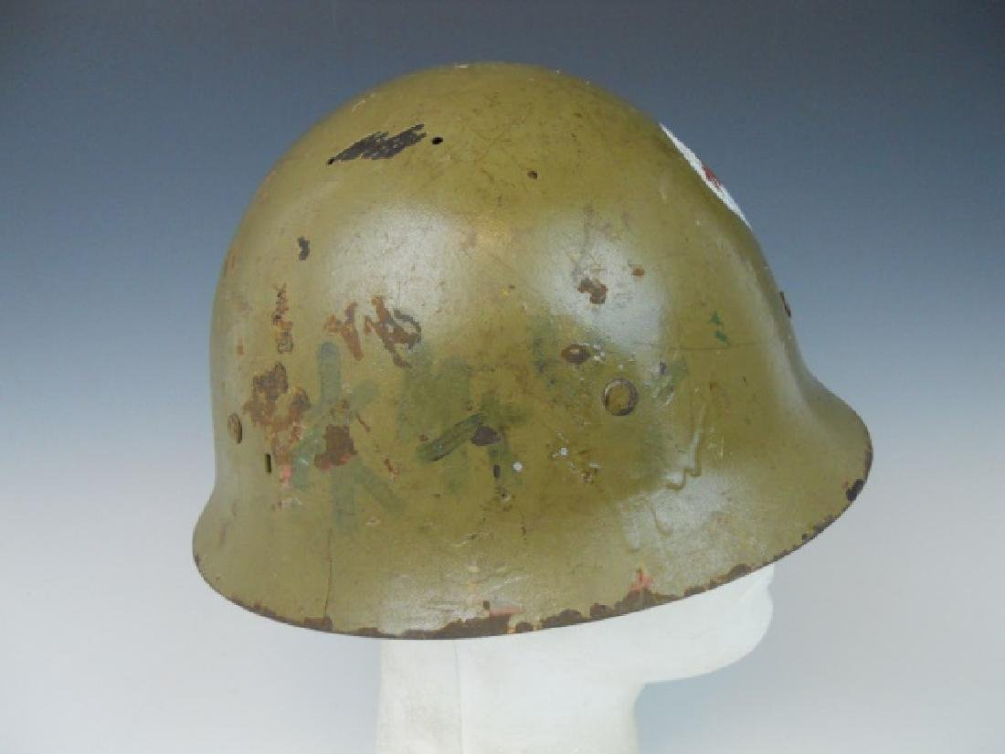 WW2 Japanese Type 90 Red Cross Helmet - 3